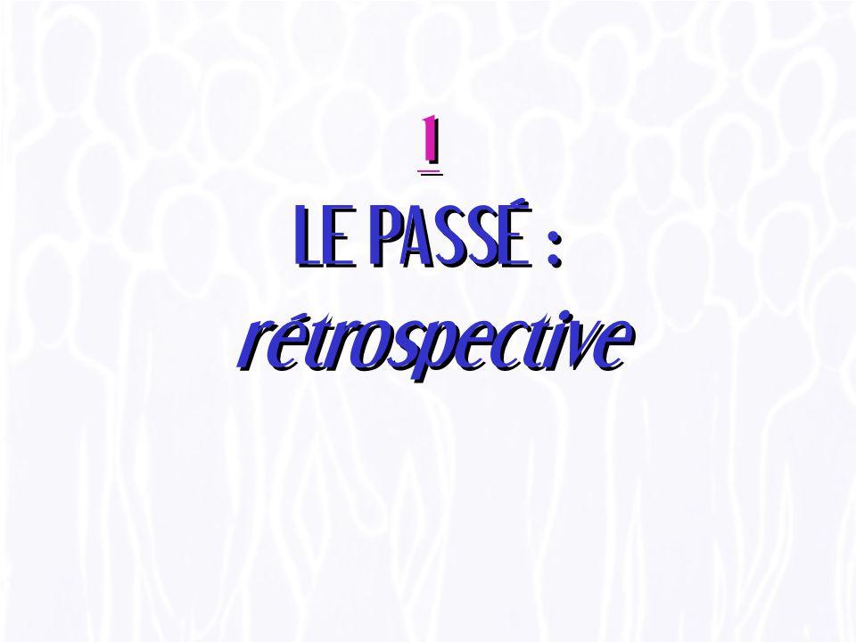 1 LE PASSÉ : rétrospective
