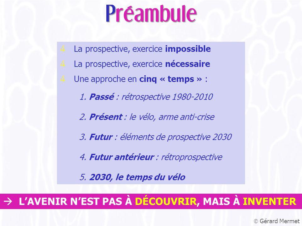 4 La prospective, exercice impossible 4 La prospective, exercice nécessaire 4 Une approche en cinq « temps » : 1.