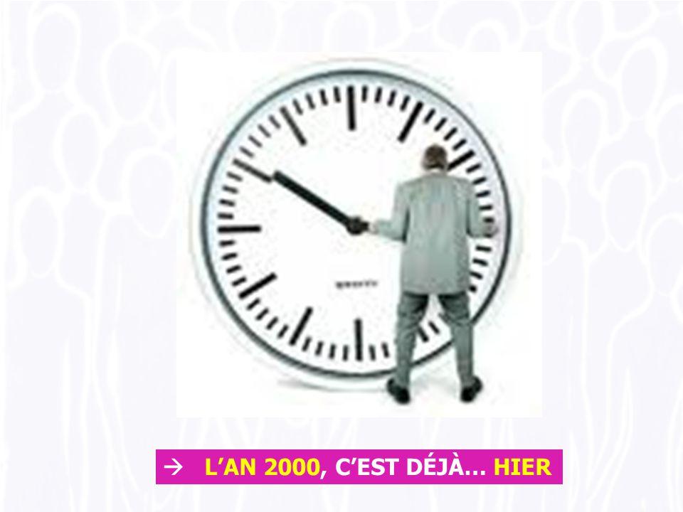  L'AN 2000, C'EST DÉJÀ… HIER