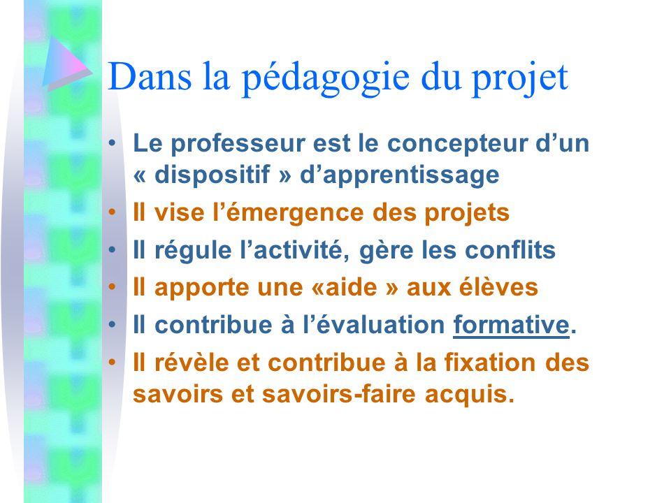 La pédagogie du projet vise à (re) donner du sens à l'école.