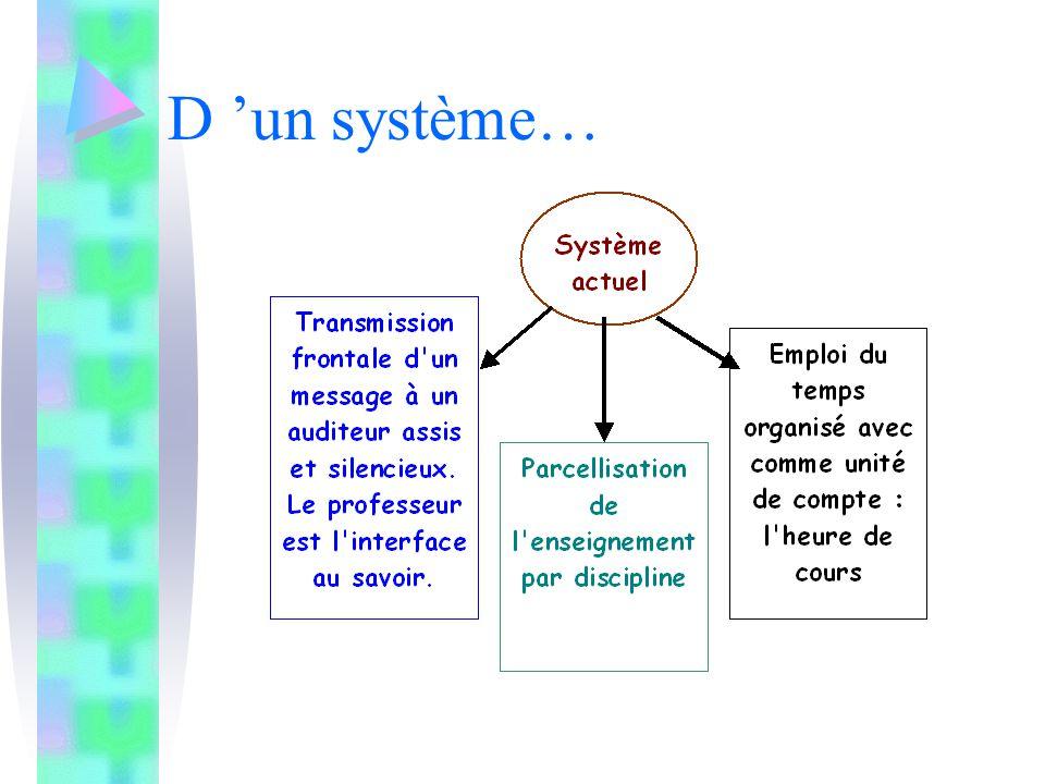 Dans la pédagogie « traditionnelle » le professeur est en position frontale; il est l'intermédiaire du savoir.