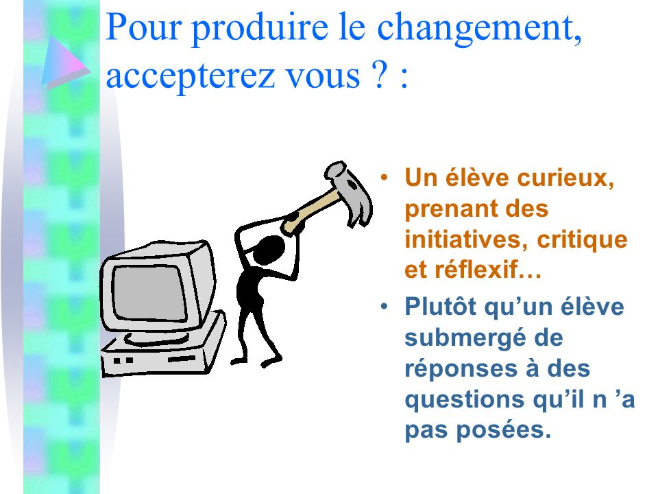 Interaction marquée entre conception (réflexion) et fabrication (action).