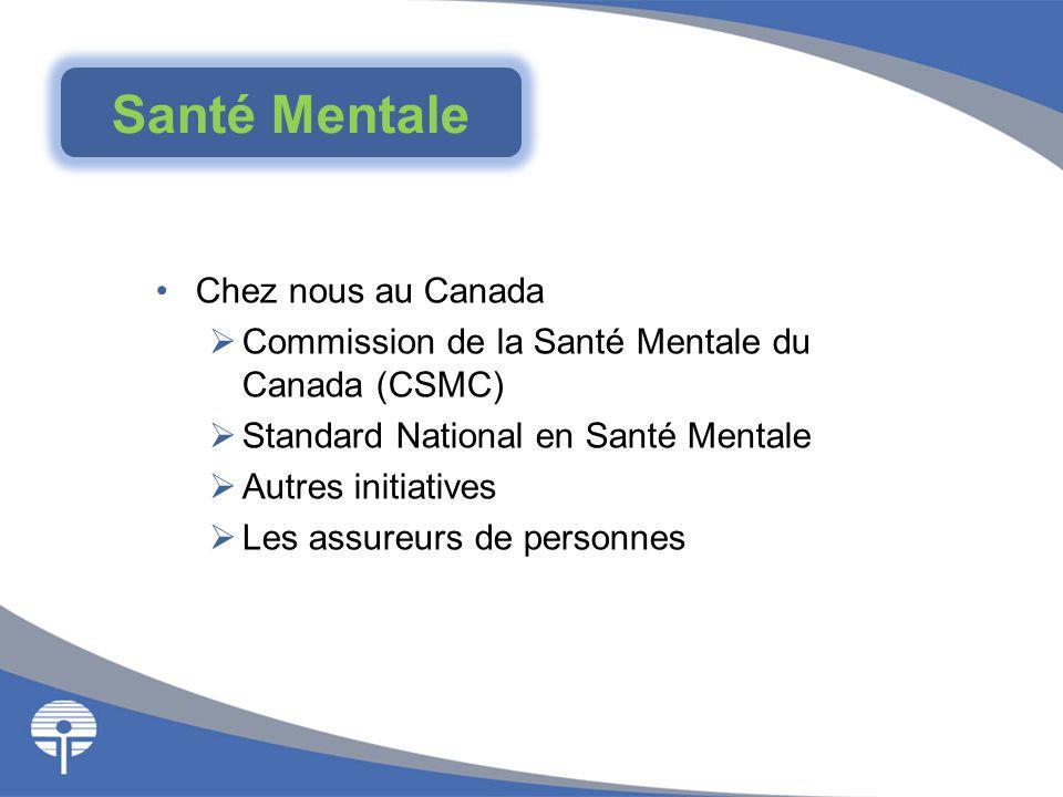 Chez nous au Canada  Commission de la Santé Mentale du Canada (CSMC)  Standard National en Santé Mentale  Autres initiatives  Les assureurs de per