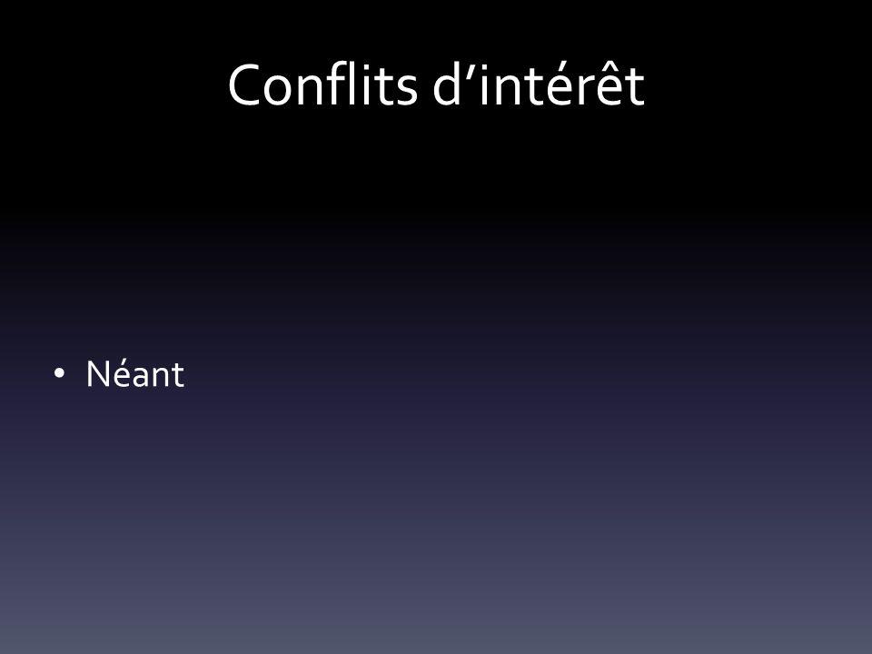 Conflits d'intérêt Néant