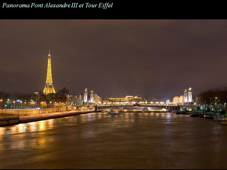 Panorama Pont Alexandre III et Tour Eiffel
