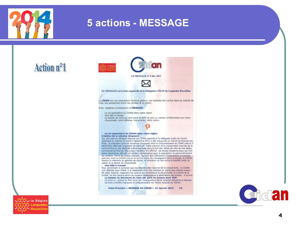 4 5 actions - MESSAGE