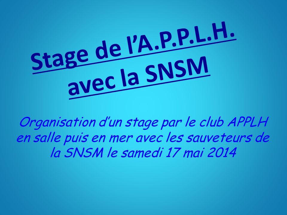 Stage de l'A.P.P.L.H.