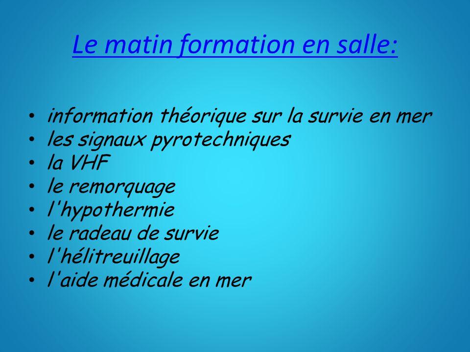Formation théorique et technique le matin en salle de cours avec Bertrand Caillet