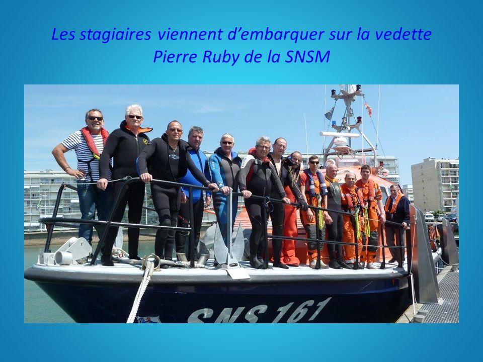 Les stagiaires viennent d'embarquer sur la vedette Pierre Ruby de la SNSM