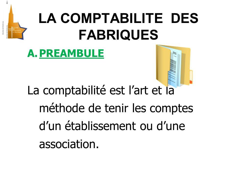 A.PREAMBULE La comptabilité est l'art et la méthode de tenir les comptes d'un établissement ou d'une association.