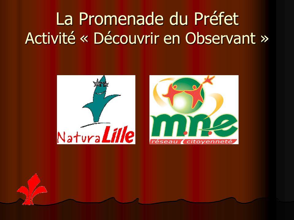 La Promenade du Préfet Activité « Découvrir en Observant »