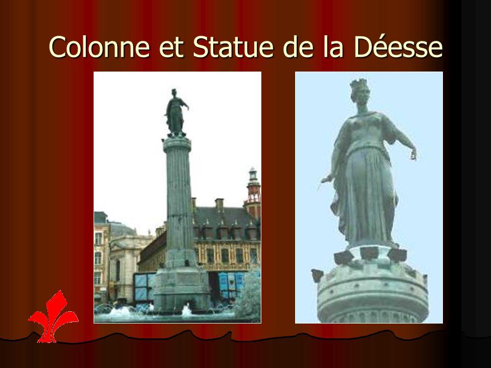Colonne et Statue de la Déesse