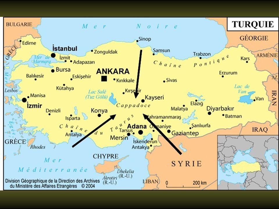 La Cappadoce, située à l'est de la Turquie centrale, à 322 km.