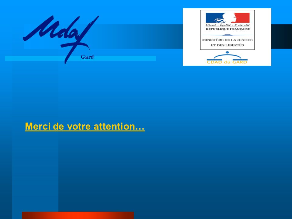 Merci de votre attention… Gard