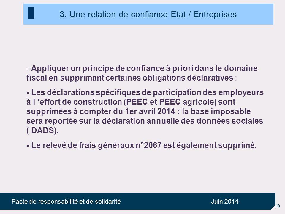 10 Pacte de responsabilité et de solidaritéJuin 2014 3.