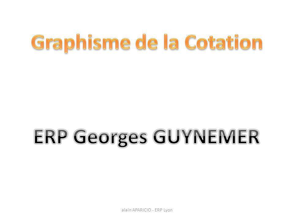 Propriété du document / Cotation alain APARICIO - ERP Lyon