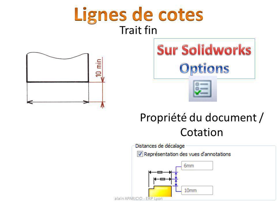 Propriété du document / Cotation Trait fin alain APARICIO - ERP Lyon