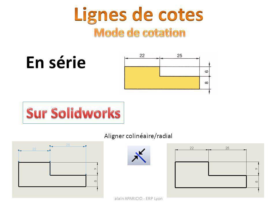 Aligner colinéaire/radial En série alain APARICIO - ERP Lyon