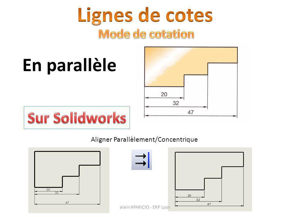 Aligner Parallèlement/Concentrique En parallèle alain APARICIO - ERP Lyon