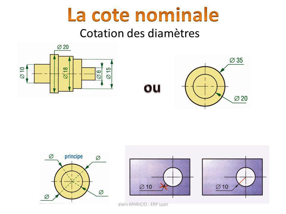 Cotation des diamètres alain APARICIO - ERP Lyon