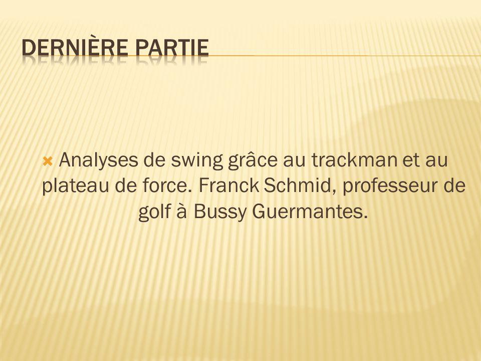  Analyses de swing grâce au trackman et au plateau de force. Franck Schmid, professeur de golf à Bussy Guermantes.