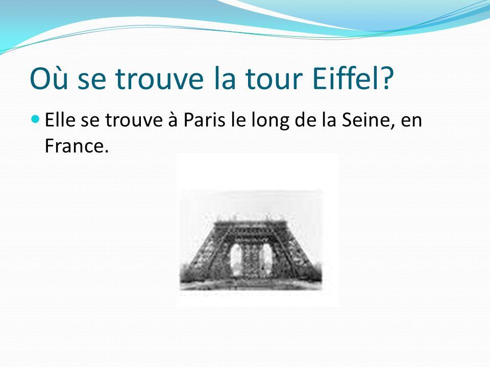Quand la tour Eiffel a-t-elle été construite .