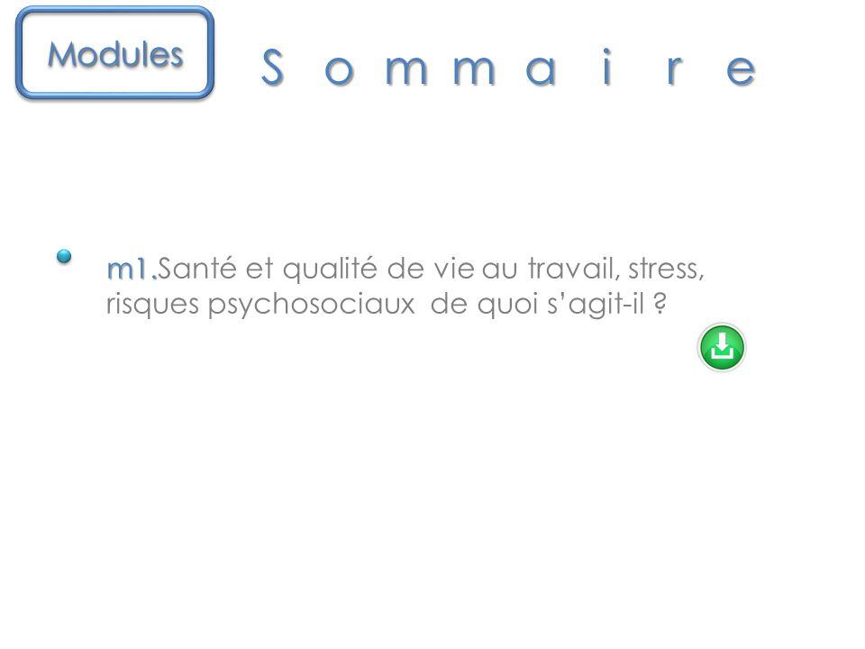 m1.m1.Santé et qualité de vie au travail, stress, risques psychosociaux de quoi s'agit-il .