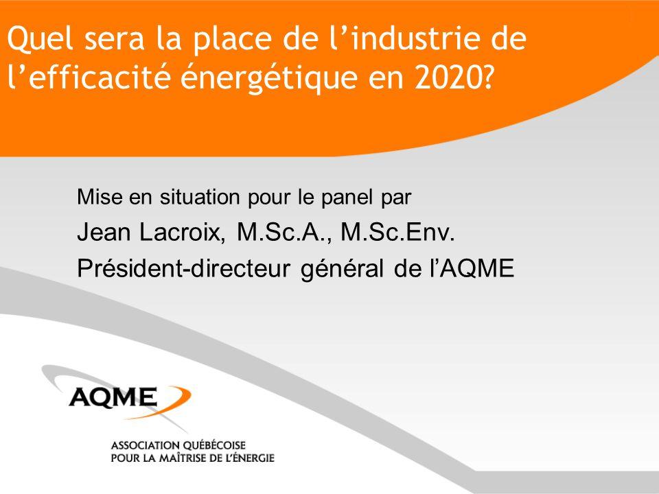 Quel sera la place de l'industrie de l'efficacité énergétique en 2020.