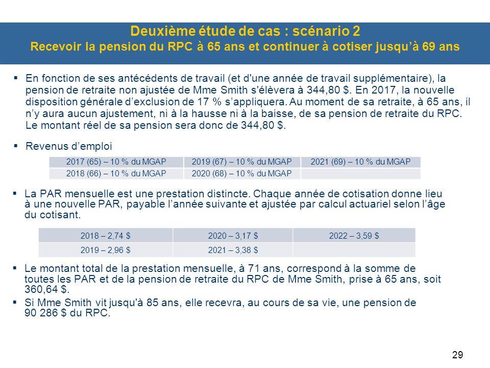 29  La PAR mensuelle est une prestation distincte. Chaque année de cotisation donne lieu à une nouvelle PAR, payable l'année suivante et ajustée par