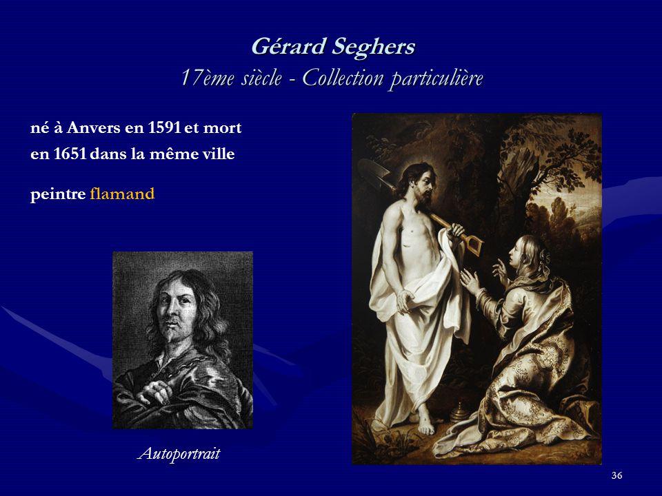36 Gérard Seghers 17ème siècle - Collection particulière né à Anvers en 1591 et mort en 1651 dans la même ville peintre flamand Autoportrait