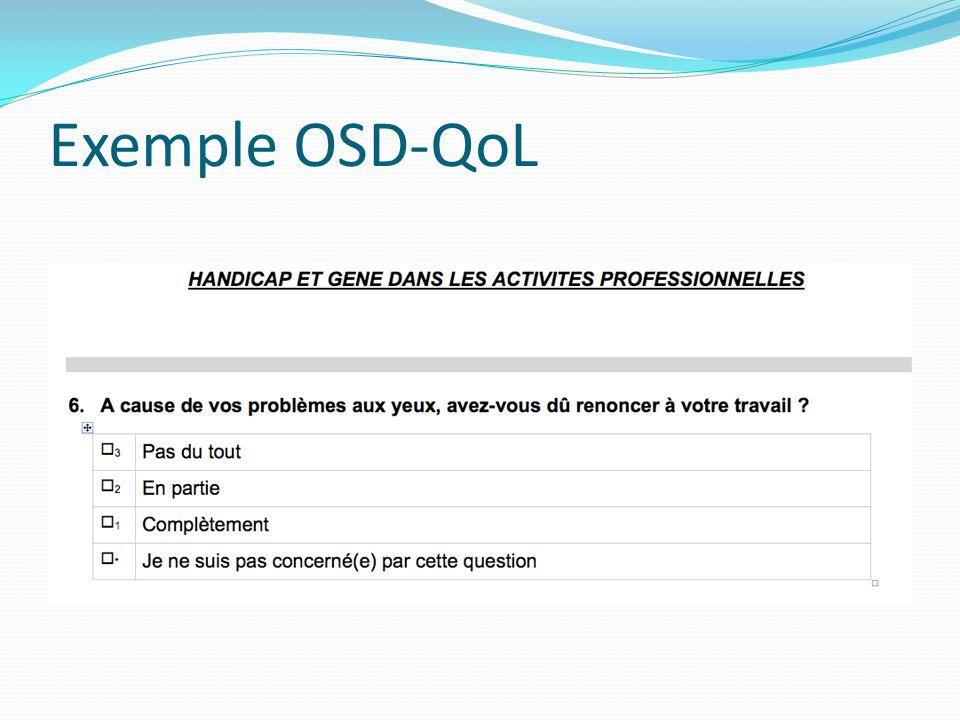 Exemple OSD-QoL