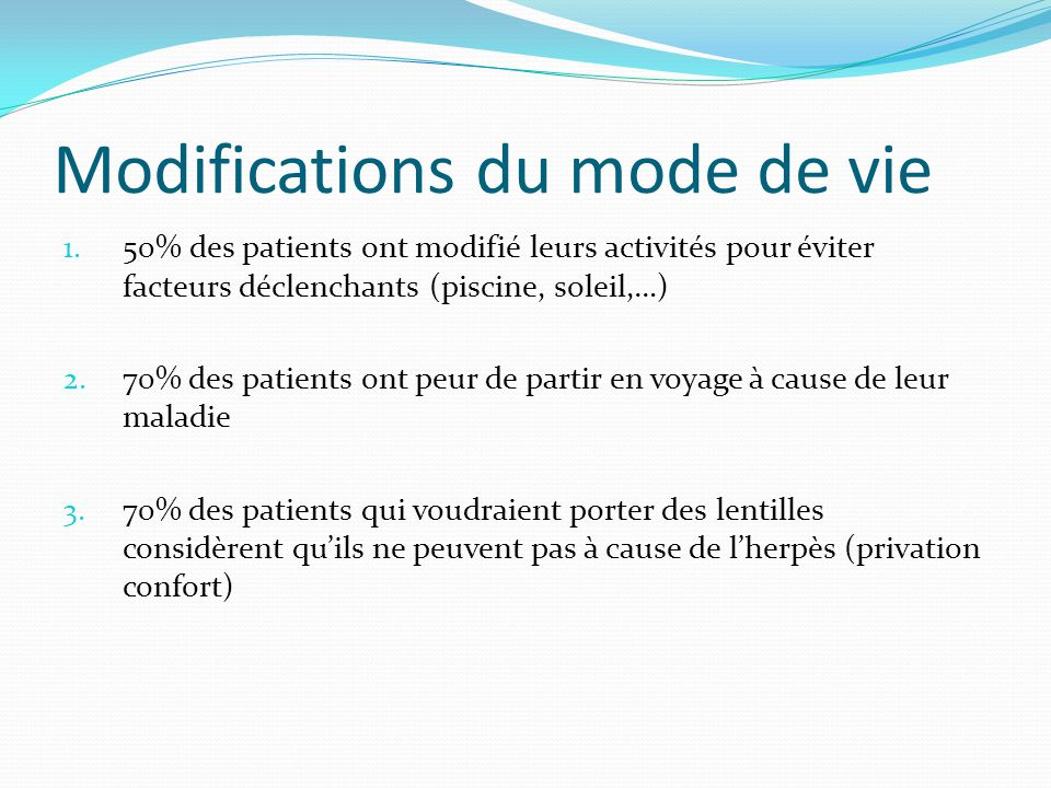 Modifications du mode de vie 1.