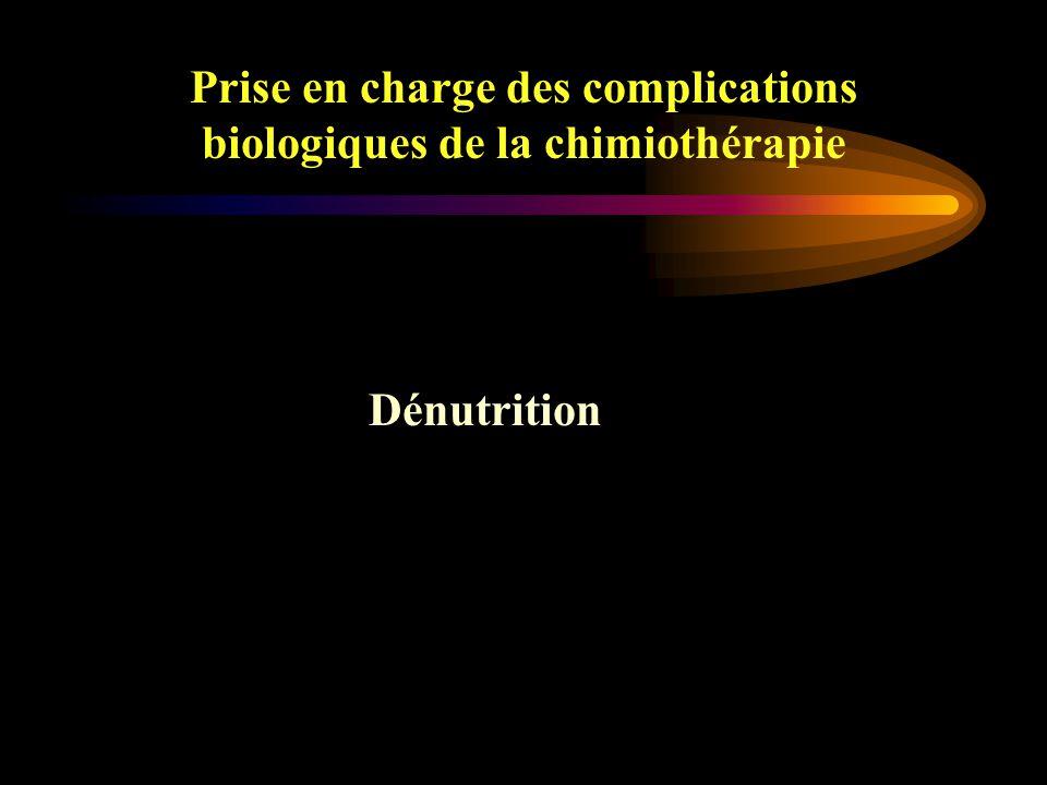 Prise en charge des complications biologiques de la chimiothérapie Diarrhées –5-FU –CPT11 Diarrhée immédiate prévenue par Atropine dans le cadre d'un syndrome cholinergique Diarrhée retardée en période d'aplasie Constipation et iléus –VCR, NVB, VLB A part : l'entérocolite nécrosante Diarrhées et Constipation 