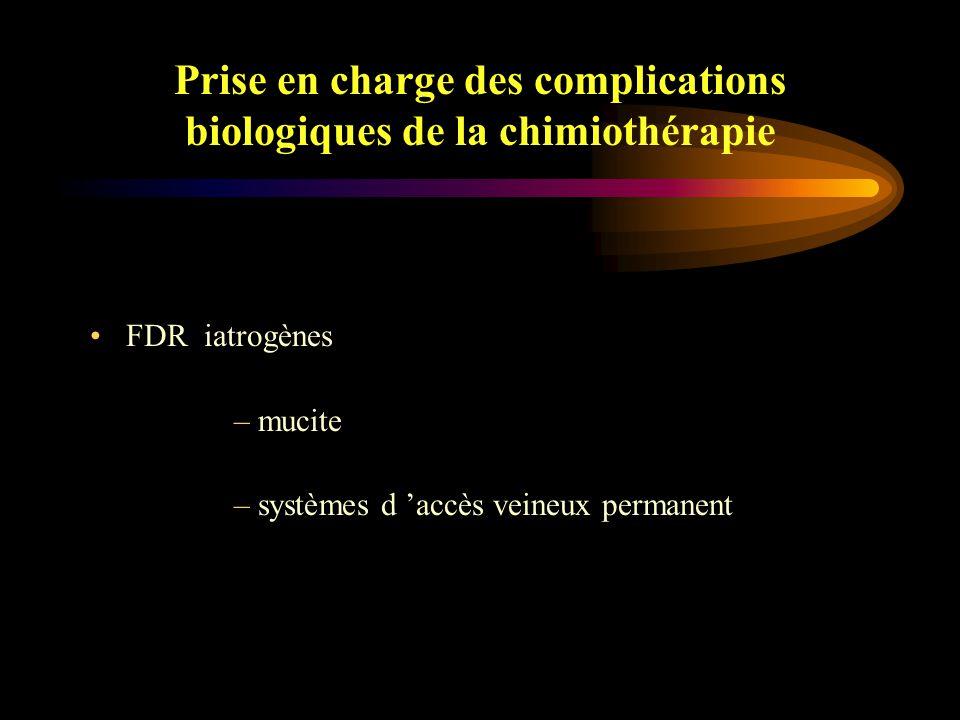 Prise en charge des complications biologiques de la chimiothérapie –Liés au terrain l 'âge performance status diabète cirrhose corticothérapie