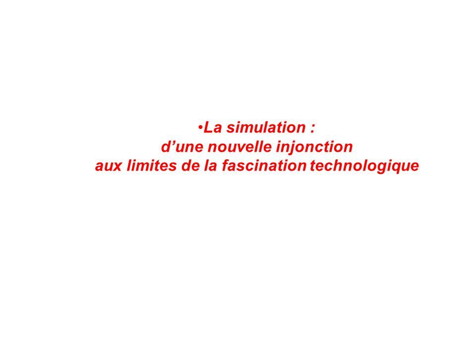 La simulation : d'une nouvelle injonction aux limites de la fascination technologique