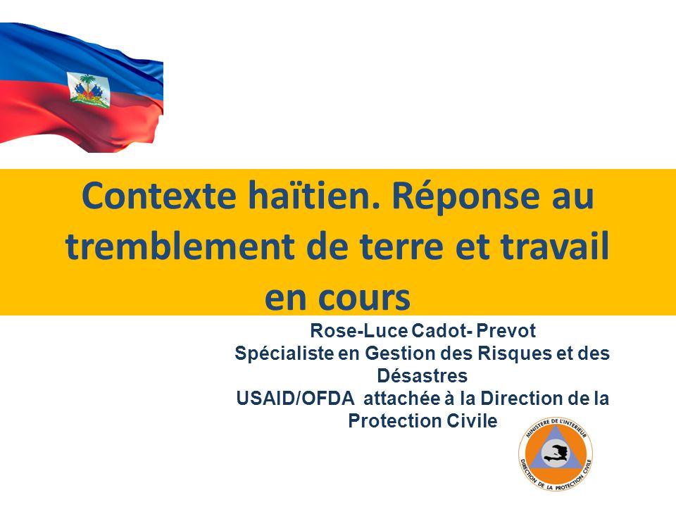 Contexte haïtien.