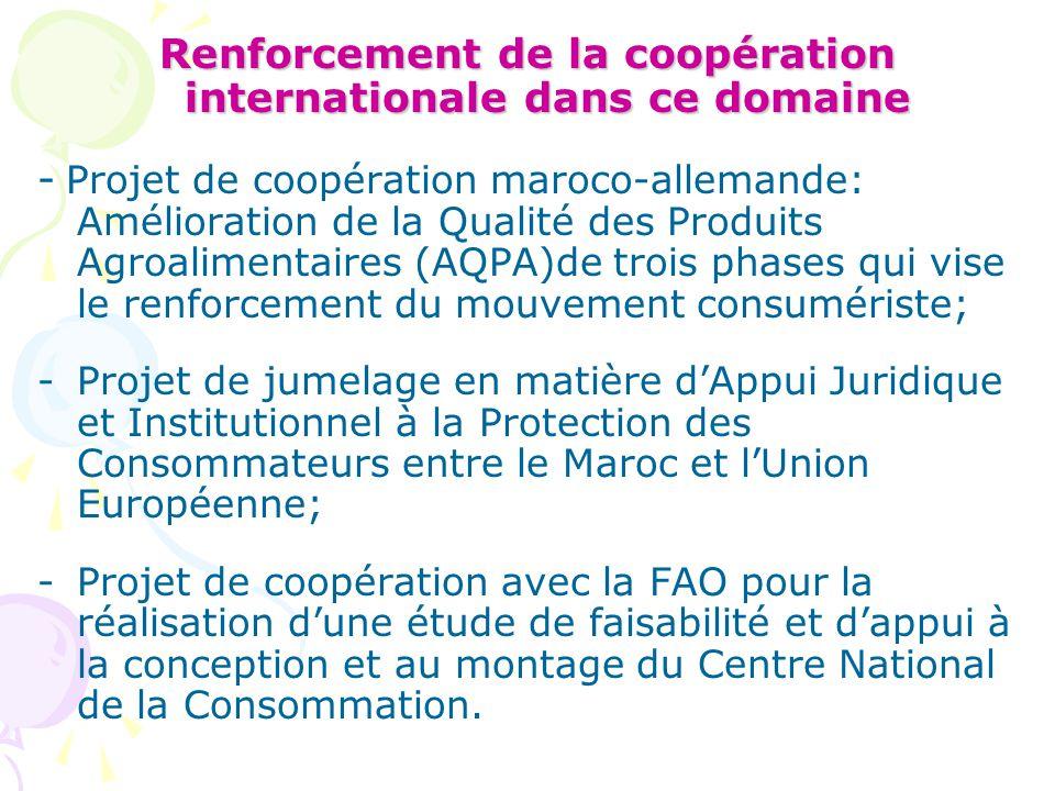 Renforcement de la coopération internationale dans ce domaine - Projet de coopération maroco-allemande: Amélioration de la Qualité des Produits Agroal