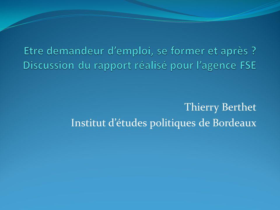 Thierry Berthet Institut d'études politiques de Bordeaux