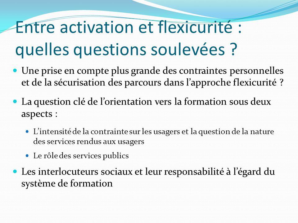 Entre activation et flexicurité : quelles questions soulevées .