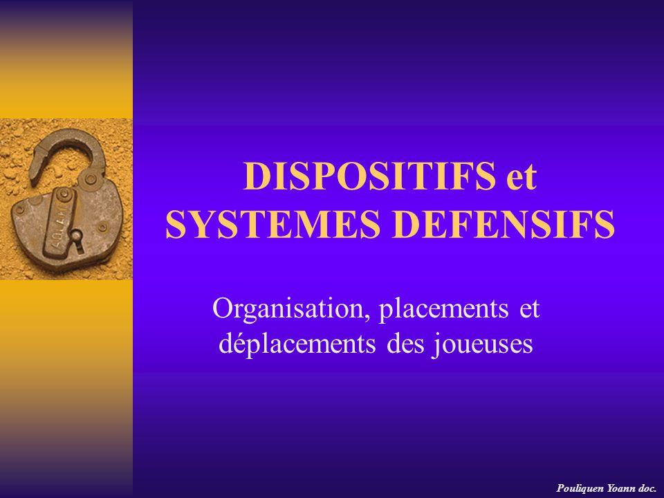 DISPOSITIFS et SYSTEMES DEFENSIFS Organisation, placements et déplacements des joueuses Pouliquen Yoann doc.