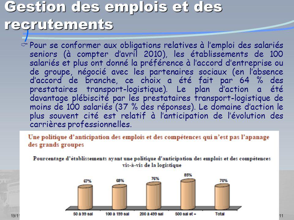 19/11/201411  Pour se conformer aux obligations relatives à l'emploi des salariés seniors (à compter d'avril 2010), les établissements de 100 salarié