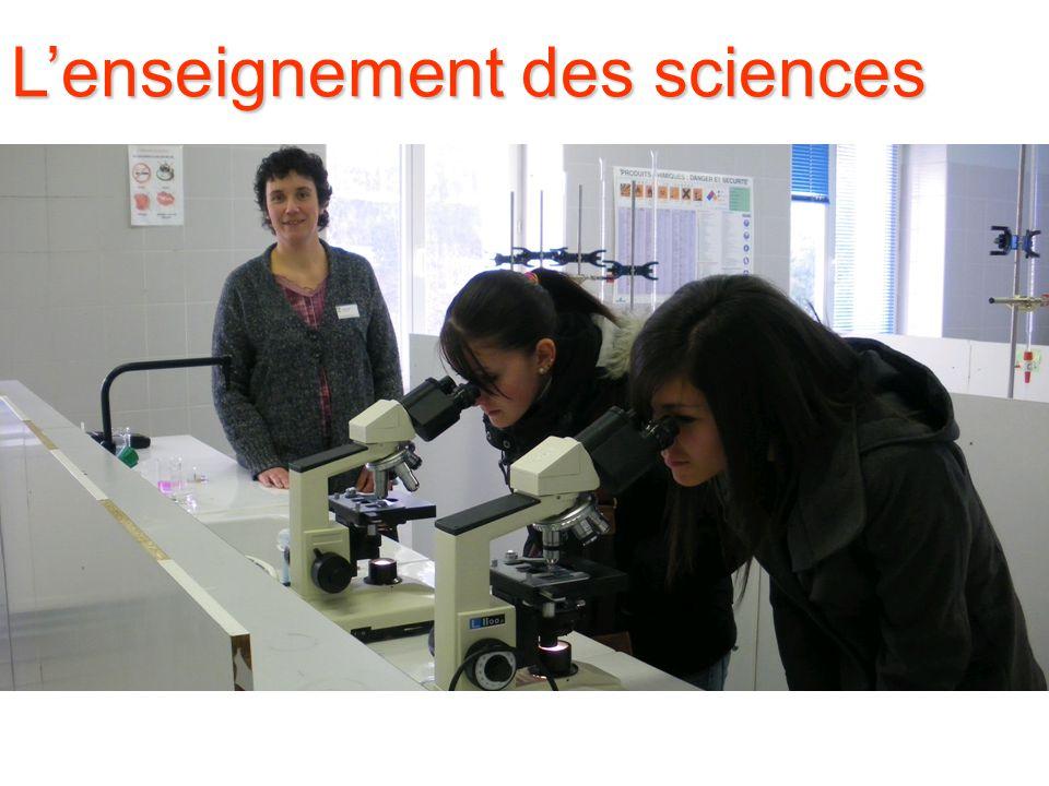 L'enseignement des sciences