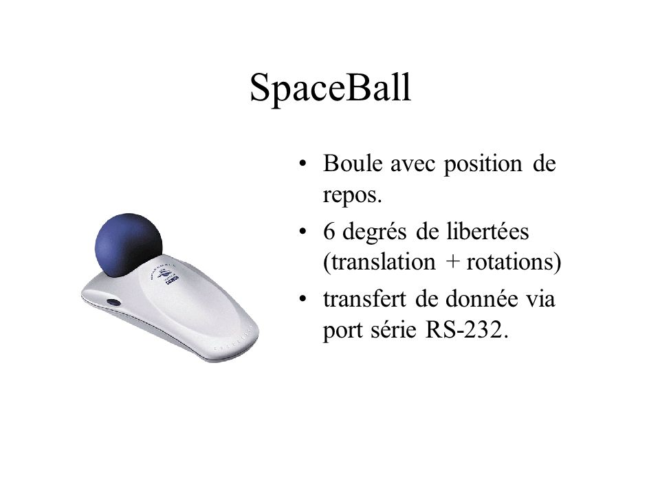 SpaceBall Boule avec position de repos.