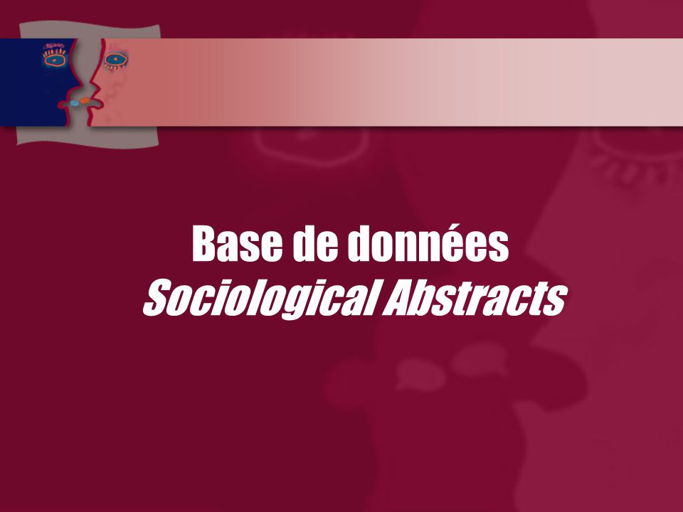 Base de données Sociological Abstracts