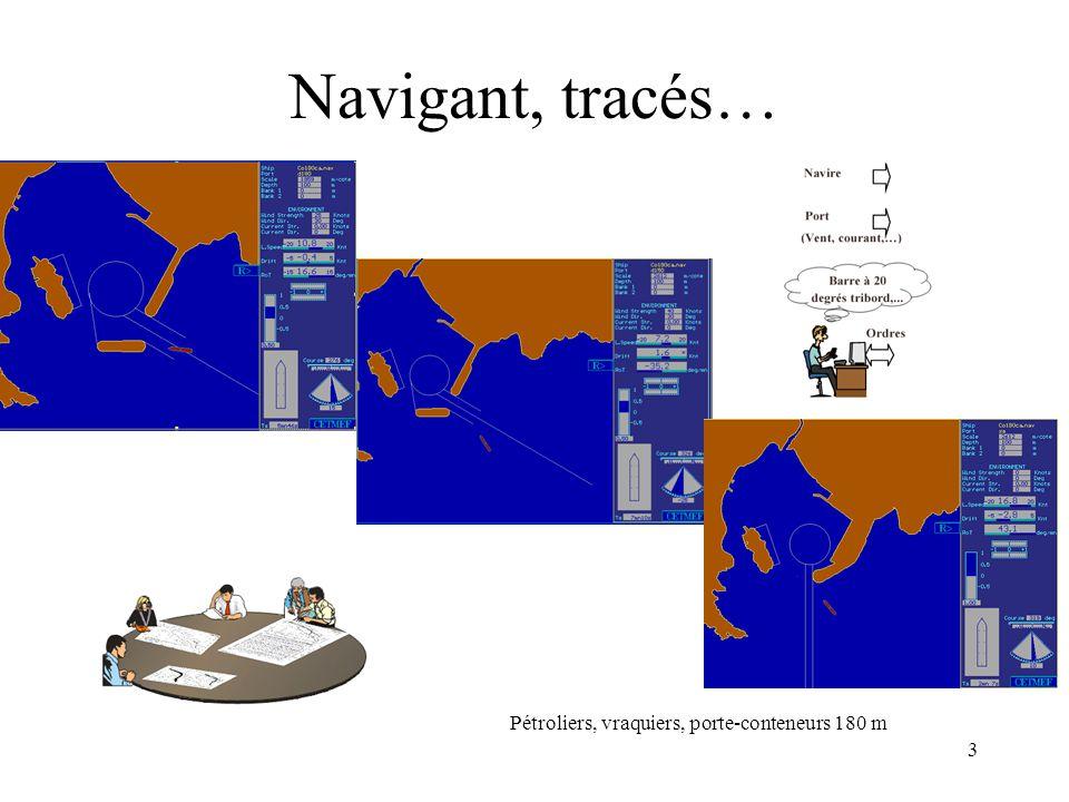 3 Navigant, tracés… Pétroliers, vraquiers, porte-conteneurs 180 m