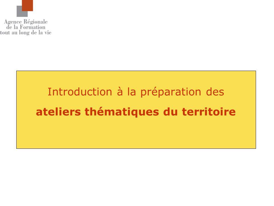 Introduction à la préparation des ateliers thématiques du territoire