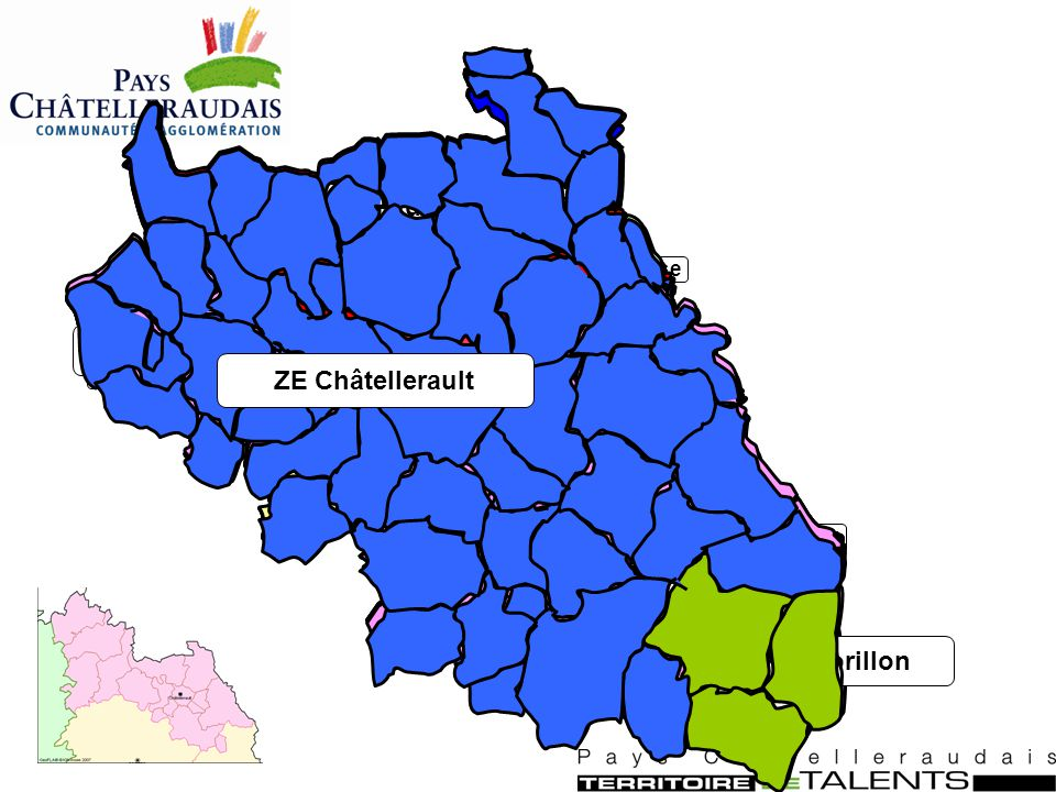 Pays Châtelleraudais CA Pays Châtelleraudais CC Vals de Gartempe et Creuse CC Vienne et Creuse CC Mable et Vienne CC Lencloîtrais Territoire de la MLC