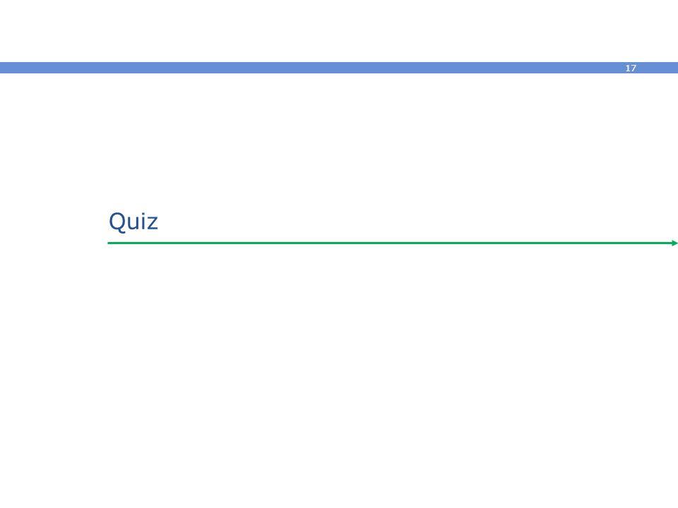 17 Quiz