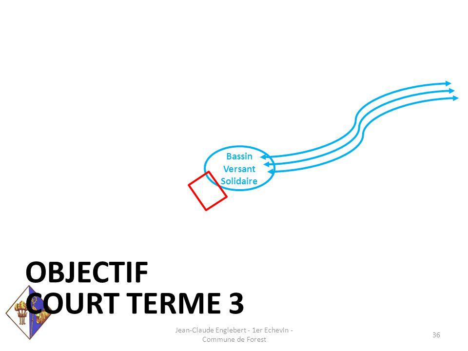 Bassin Versant Solidaire OBJECTIF COURT TERME 3 Jean-Claude Englebert - 1er Echevin - Commune de Forest 36
