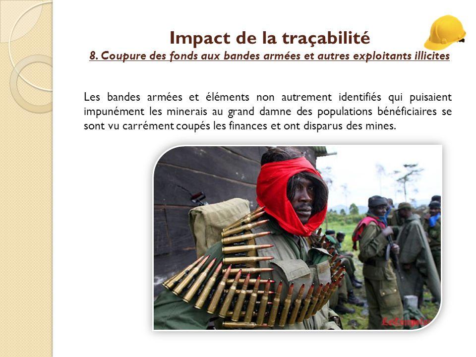 Impact de la traçabilité 8.